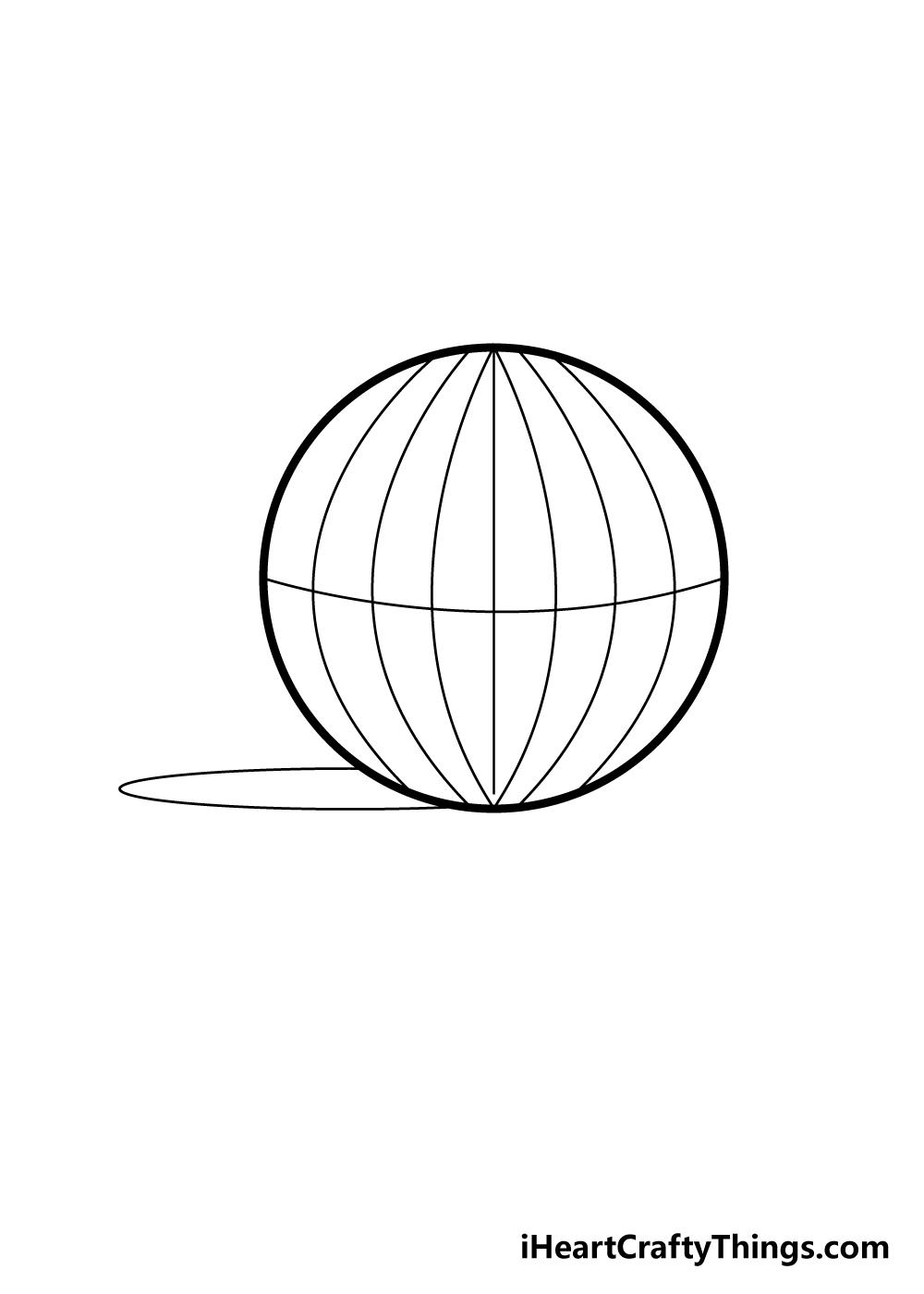 sphere drawing step 5