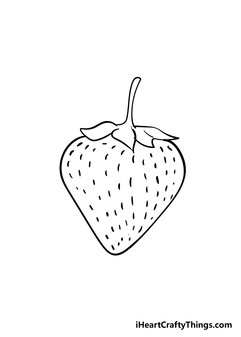 strawberry drawing step 5