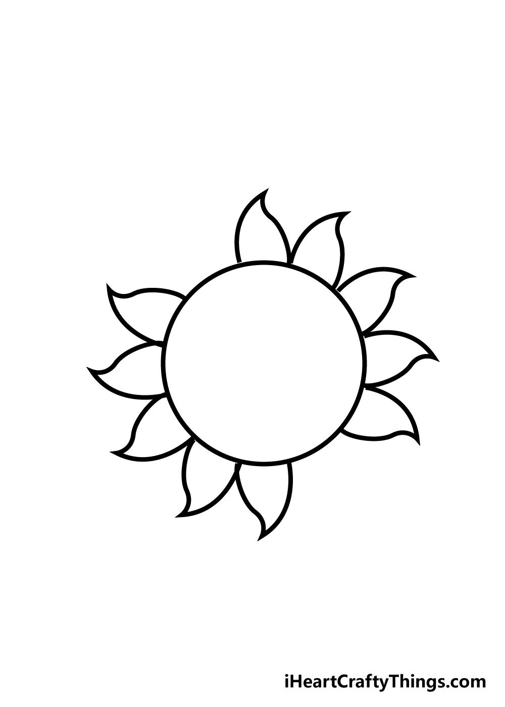 sun drawing step 5