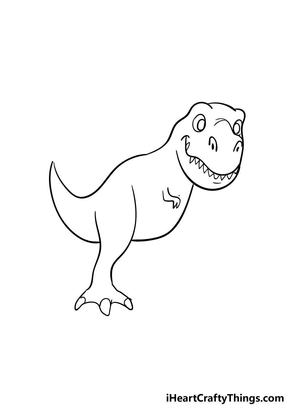 t-rex drawing step 5