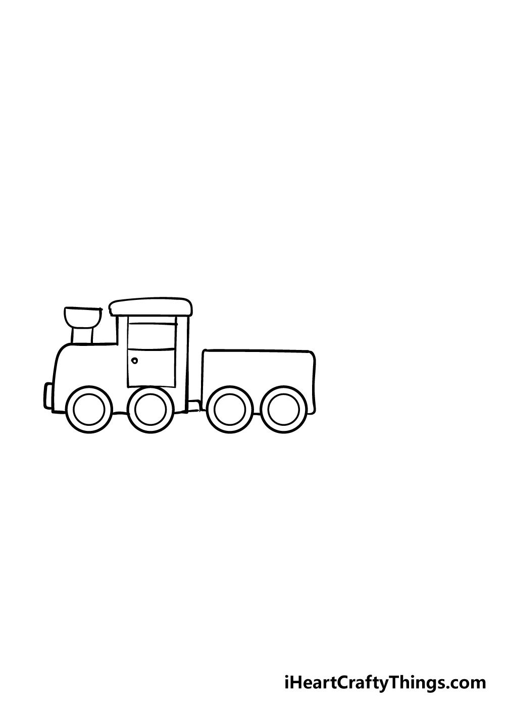 train drawing step 5