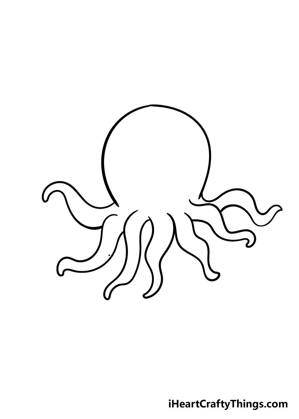 octopus drawing step 5