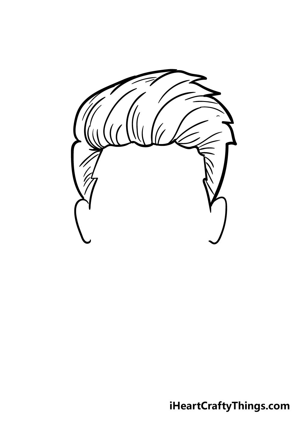 boy's hair drawing step 5