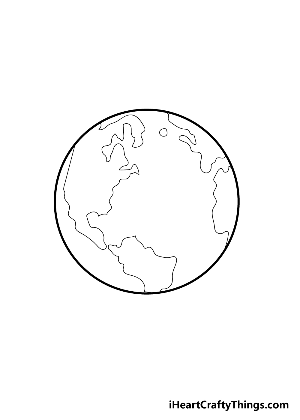 earth drawing step 5