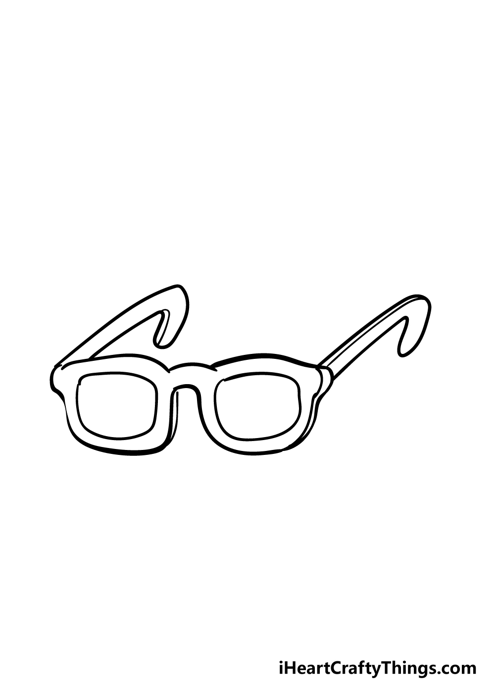 glasses drawing step 5