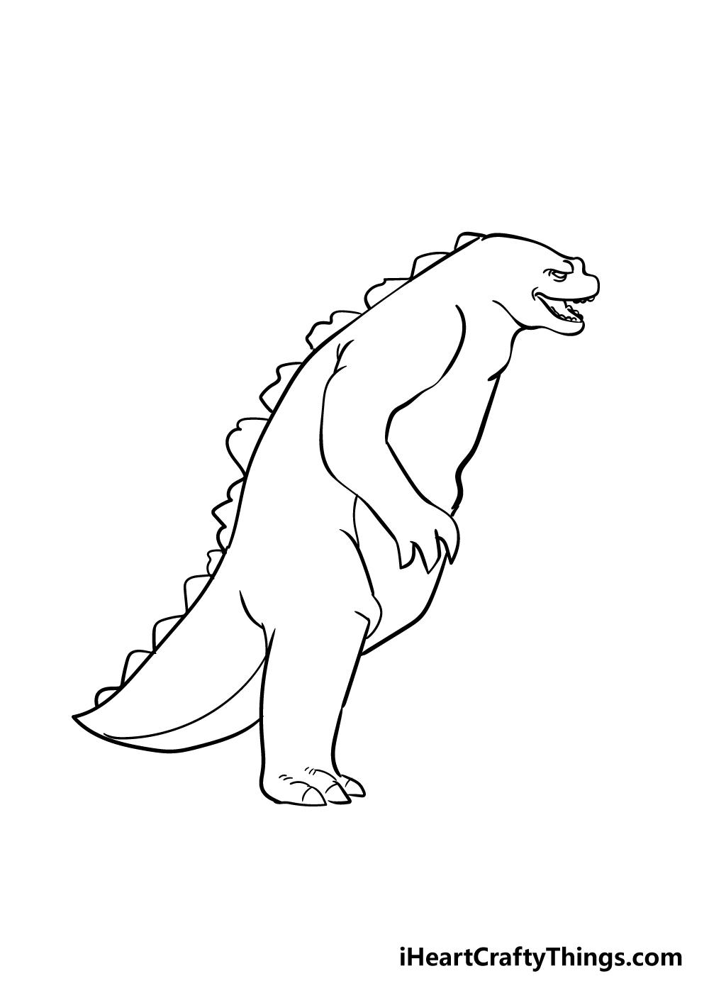 Godzilla drawing step 5