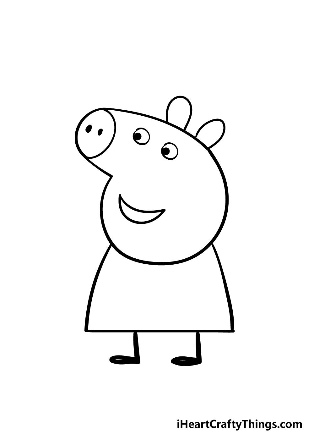 peppa pig drawing step 5