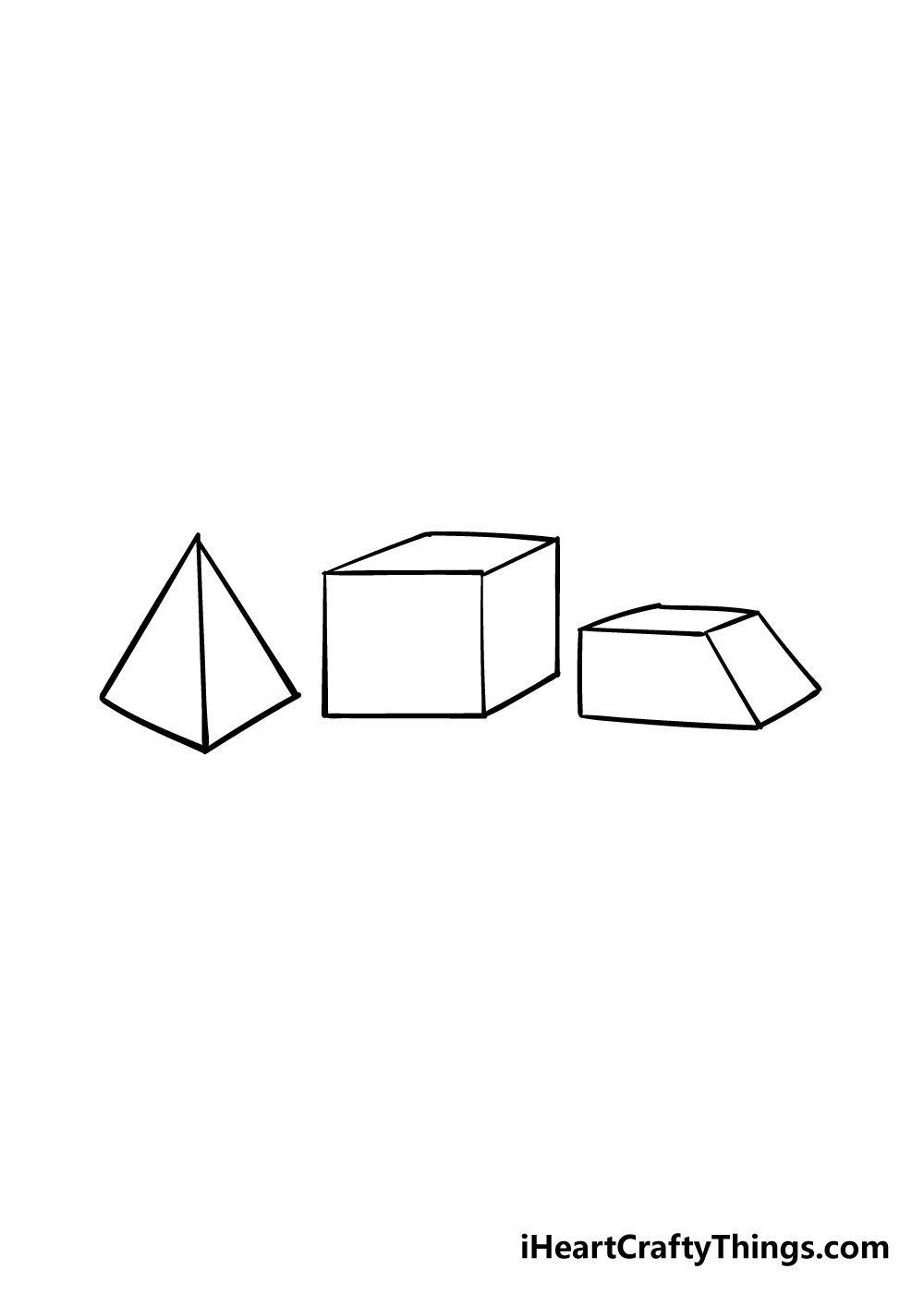3D shapes drawing step 5