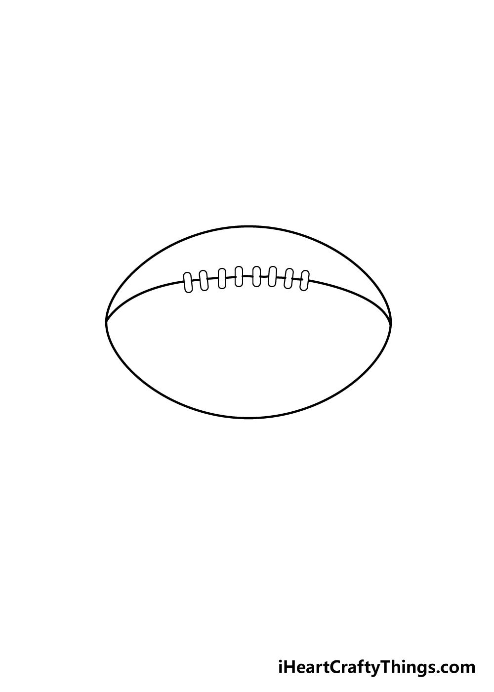 football drawing step 5