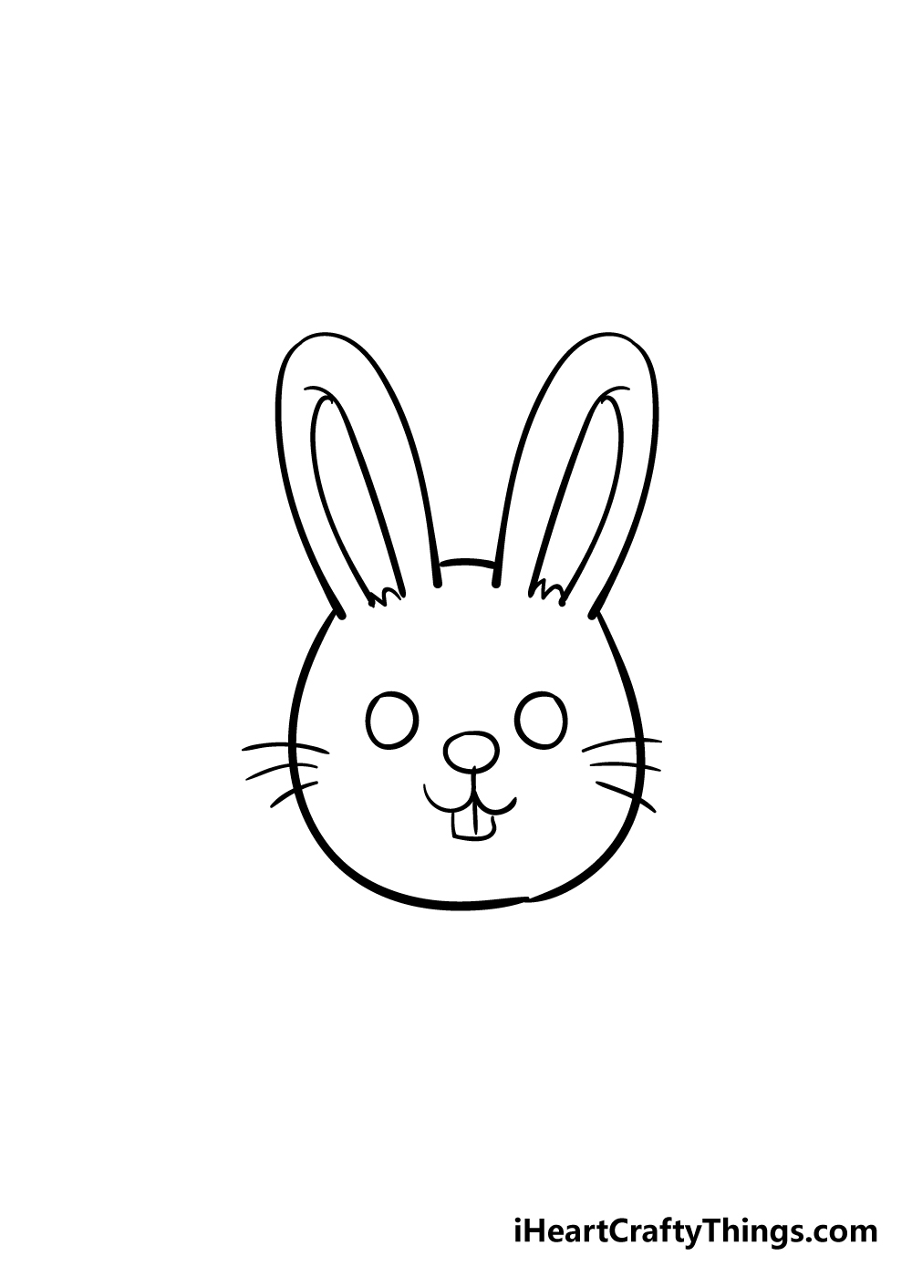 bunny face drawing step 5