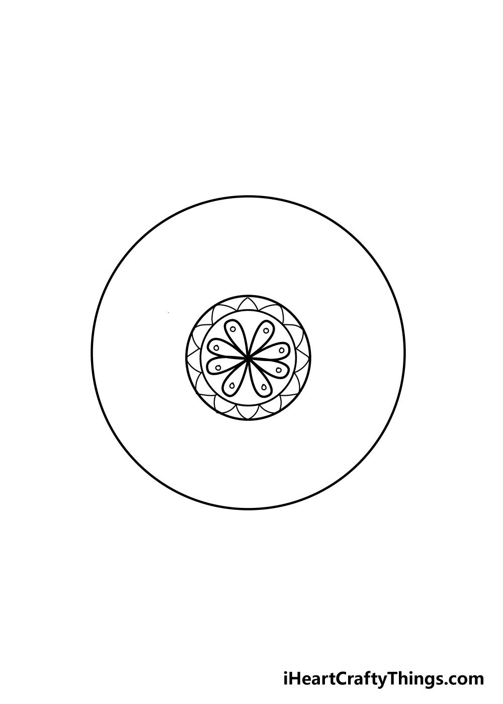 mandala drawing step 5