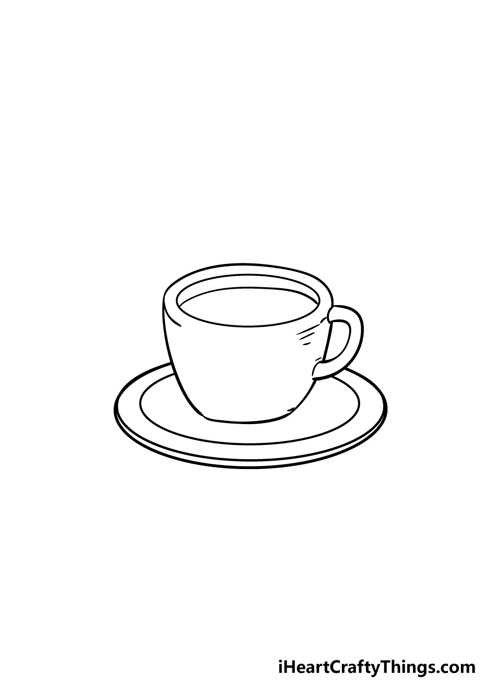 coffee cup drawing step 5