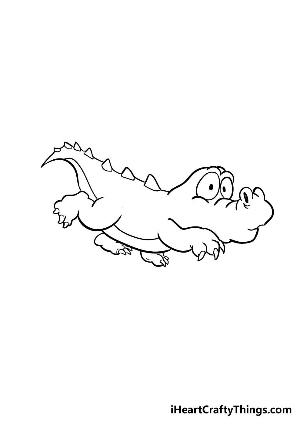 crocodile drawing step 5