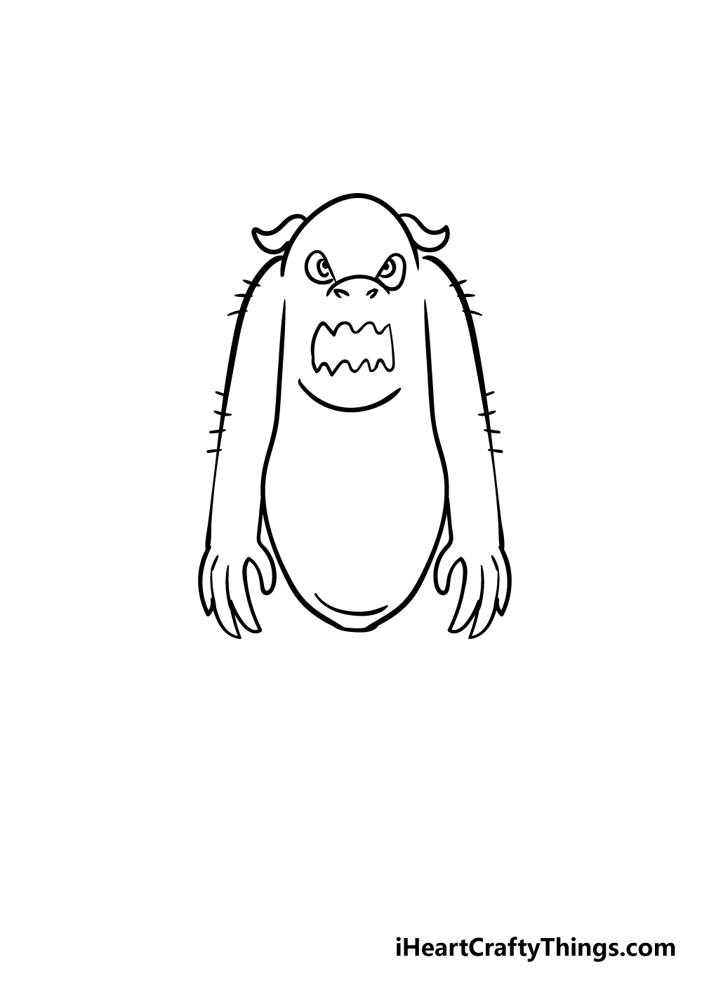monster drawing step 5