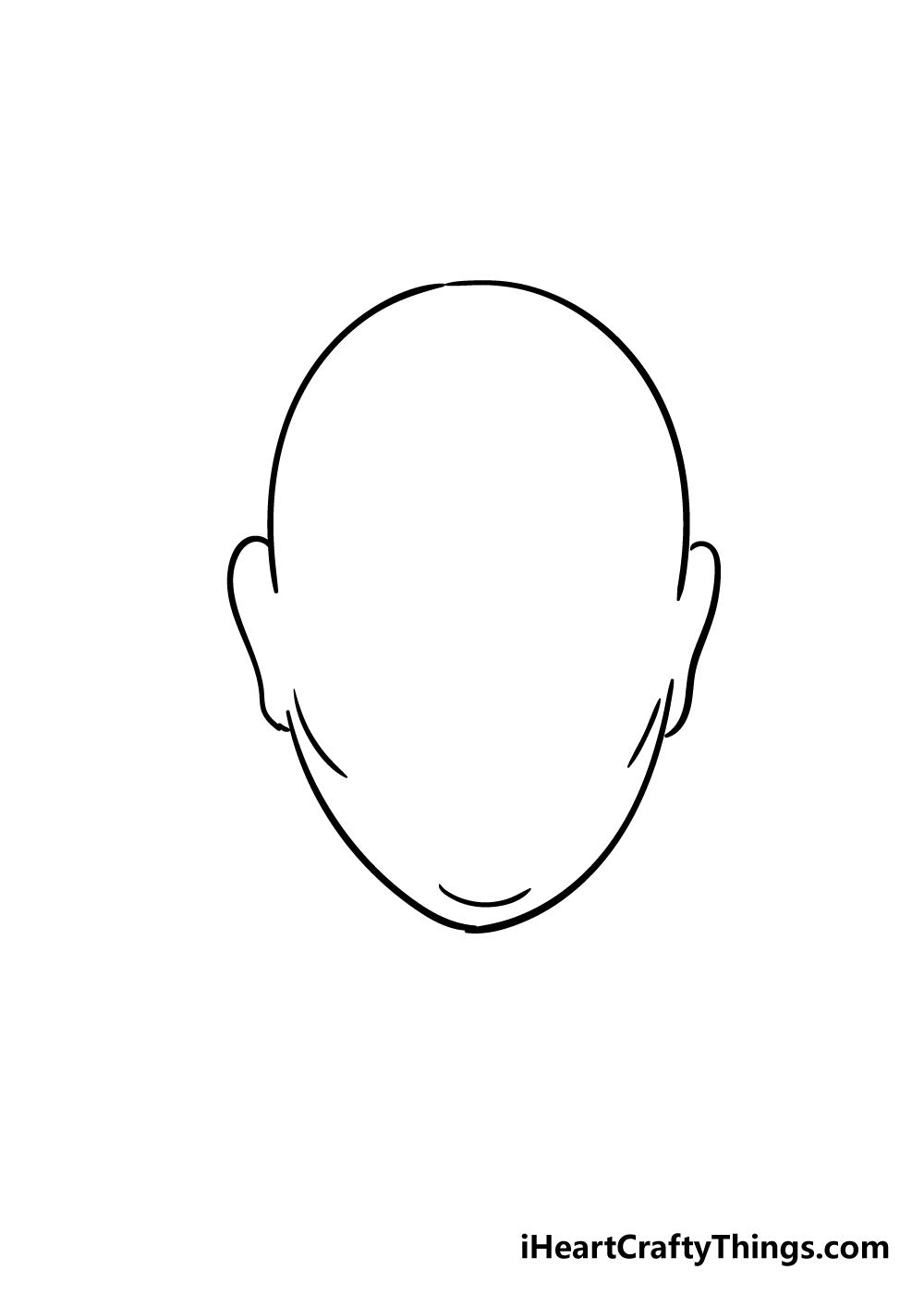 face shape drawing step 5