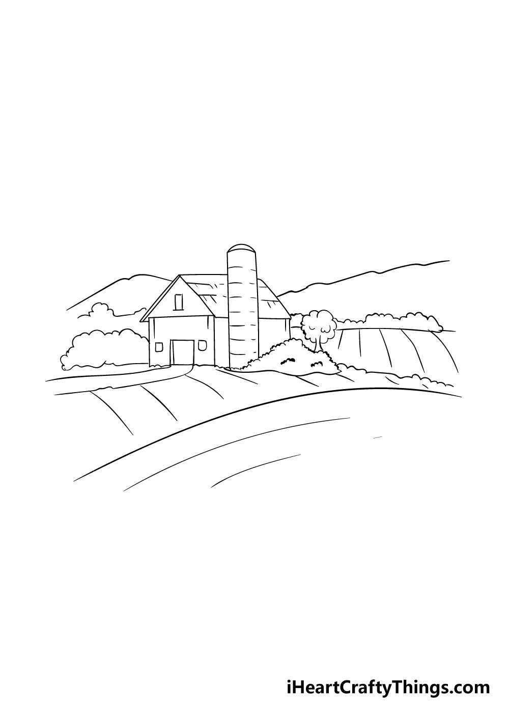 farm drawing step 5