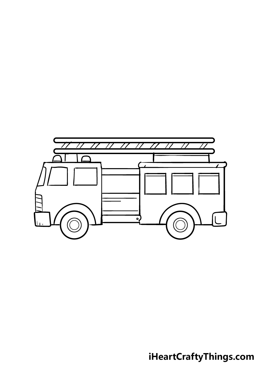 fire truck drawing step 5