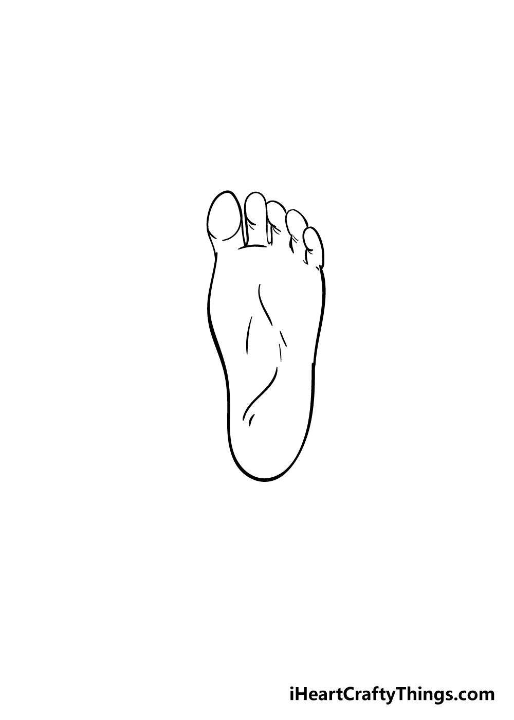 foot drawing step 5