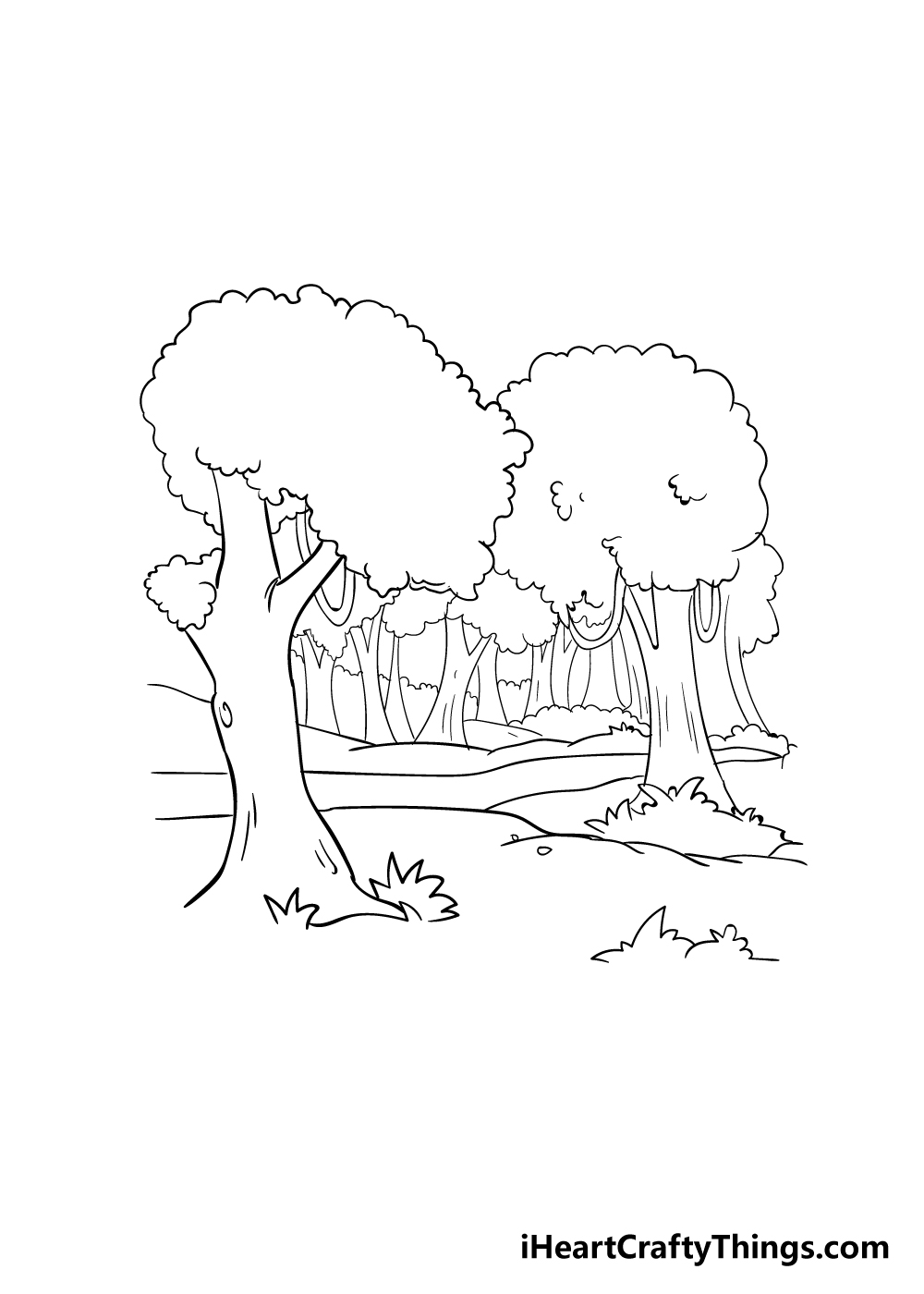 forest drawing step 5
