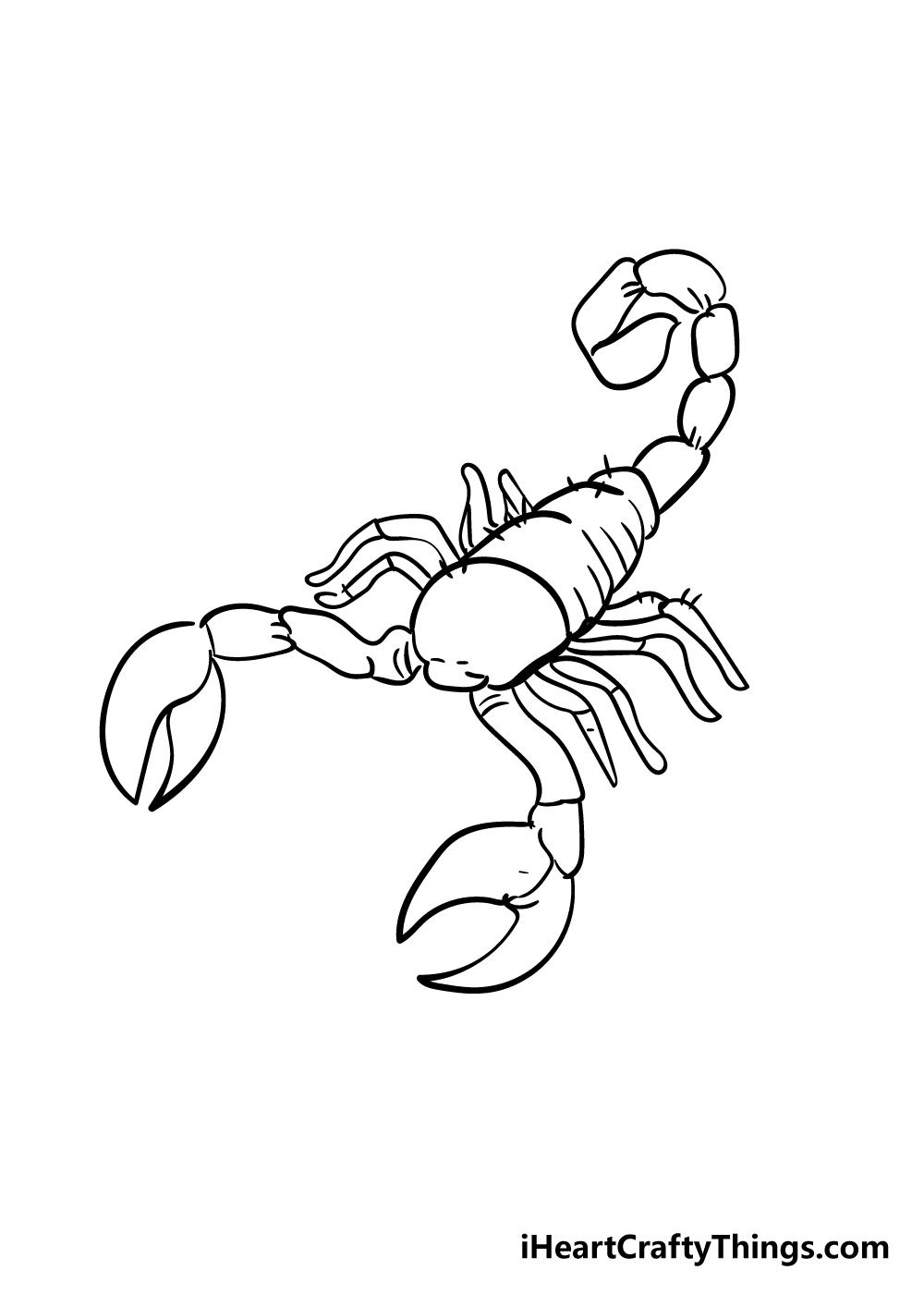 scorpion drawing step 5