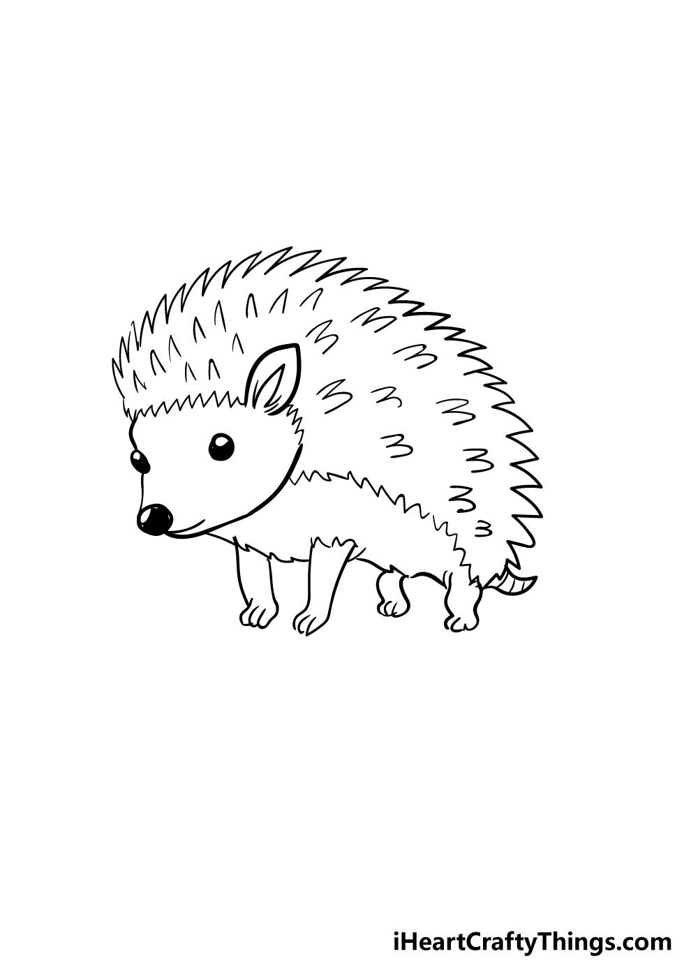 hedgehog drawing step 5