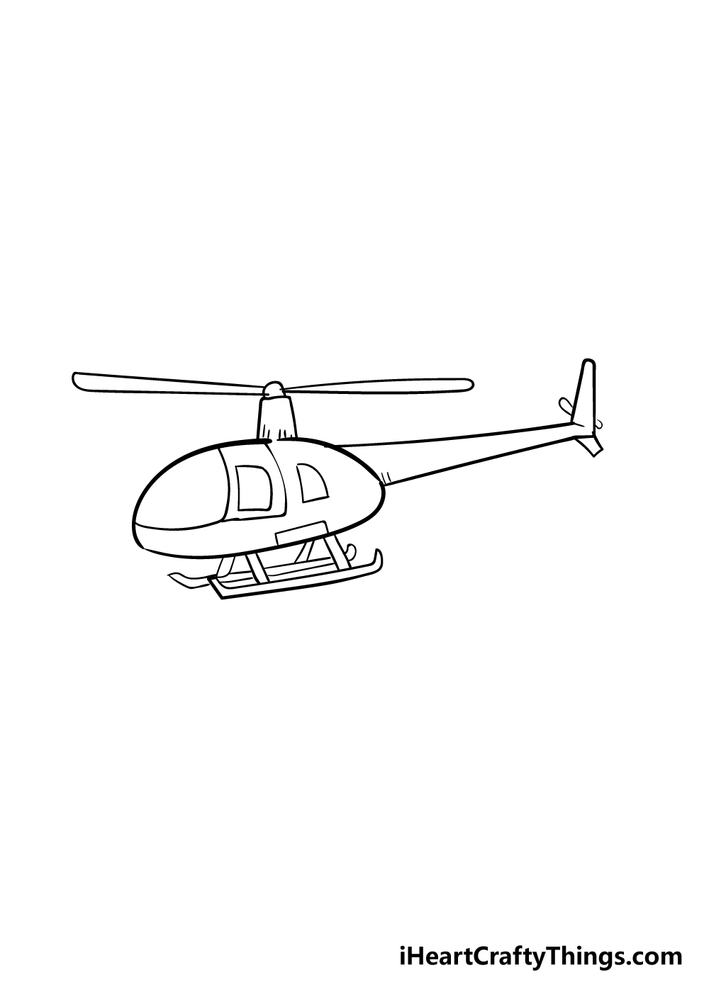 helicopter drawing step 5