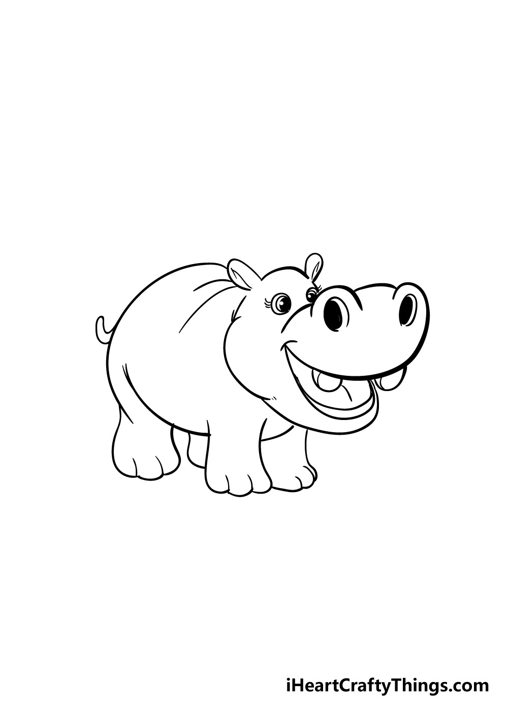 hippo drawing step 5