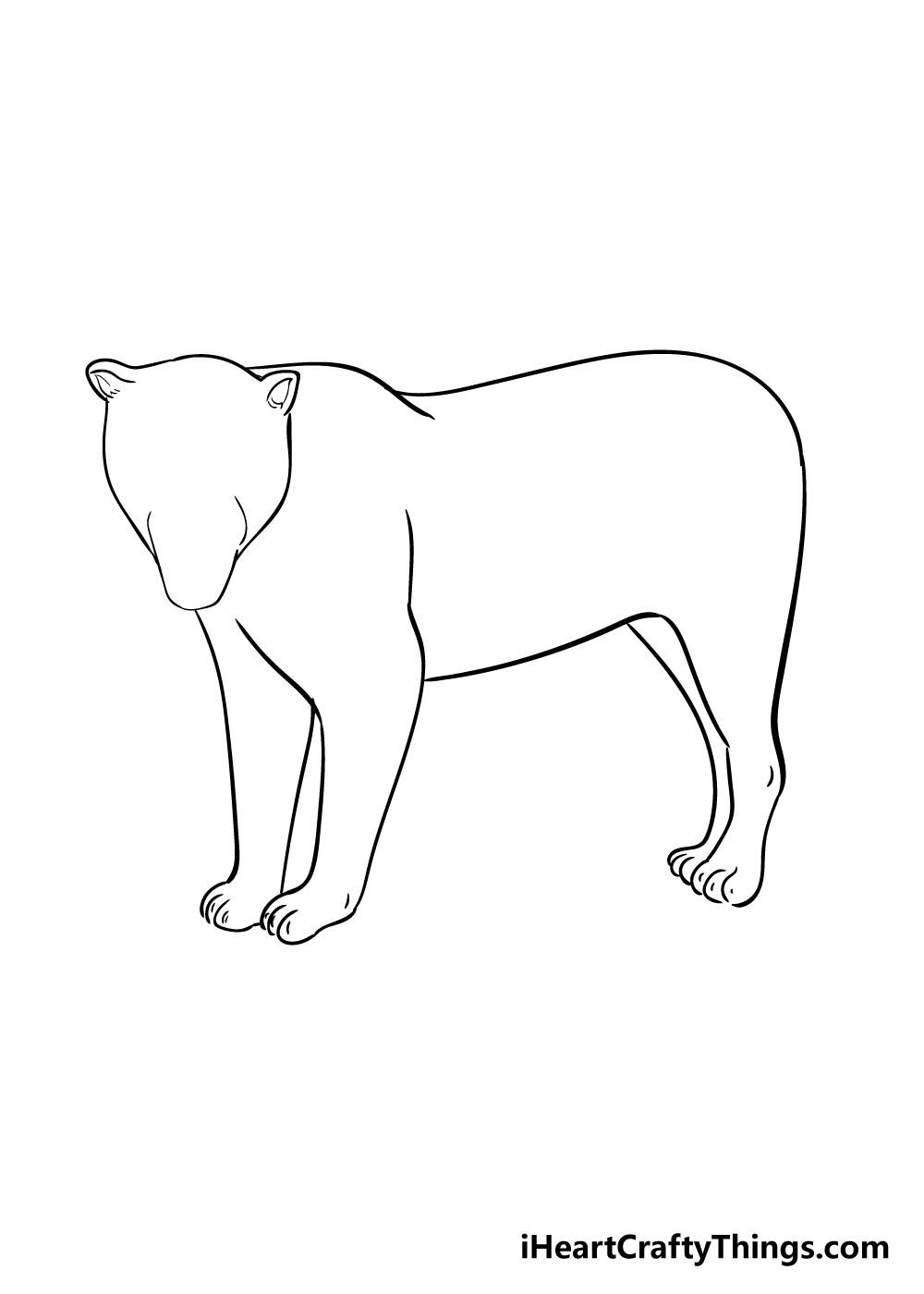 jaguar drawing step 5
