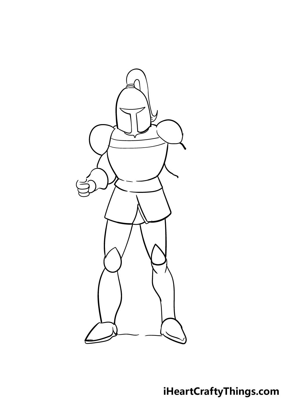 knight drawing step 5