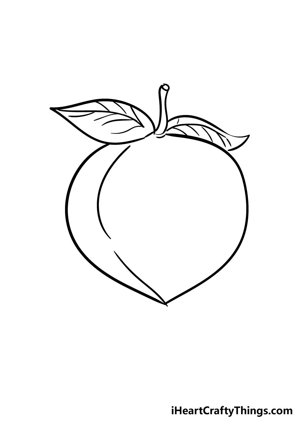 peach drawing step 5