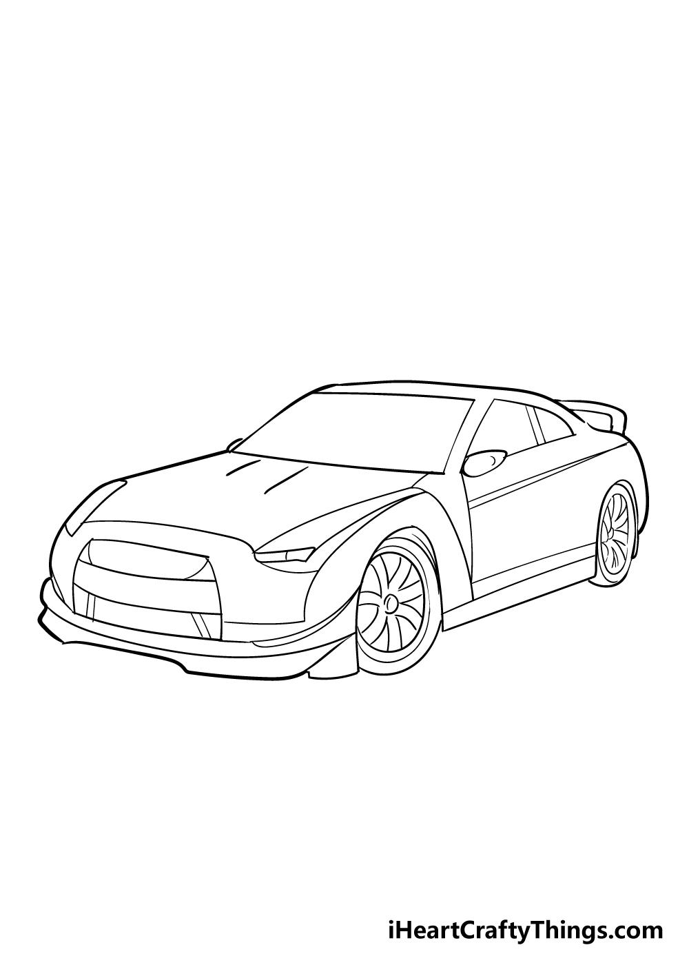 racecar drawing step 5