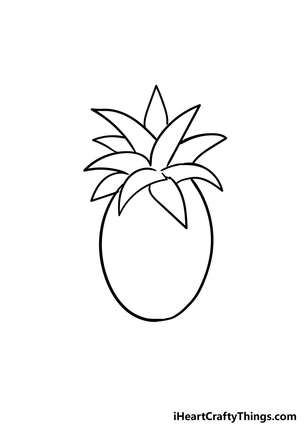 pineapple drawing step 5