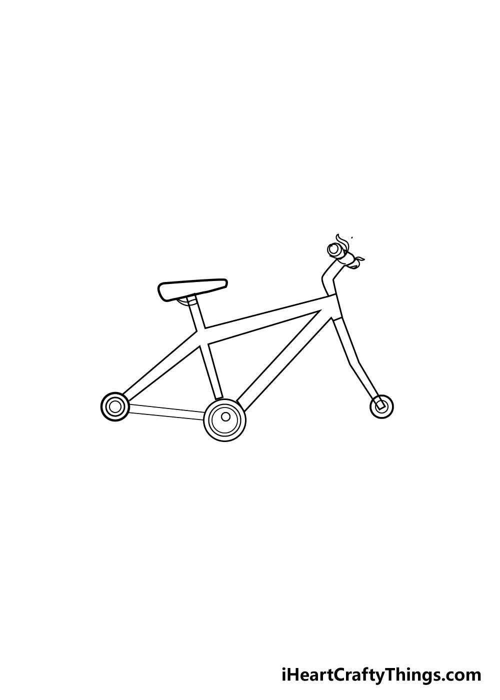 bike drawing step 5