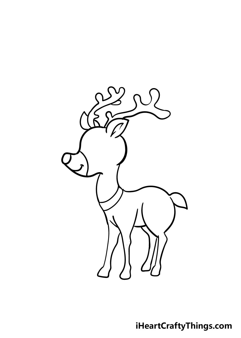 reindeer drawing step 6