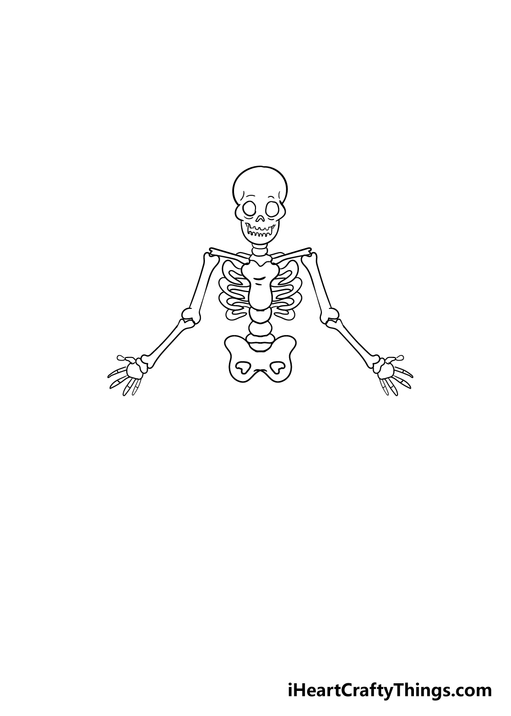 skeleton drawing step 6