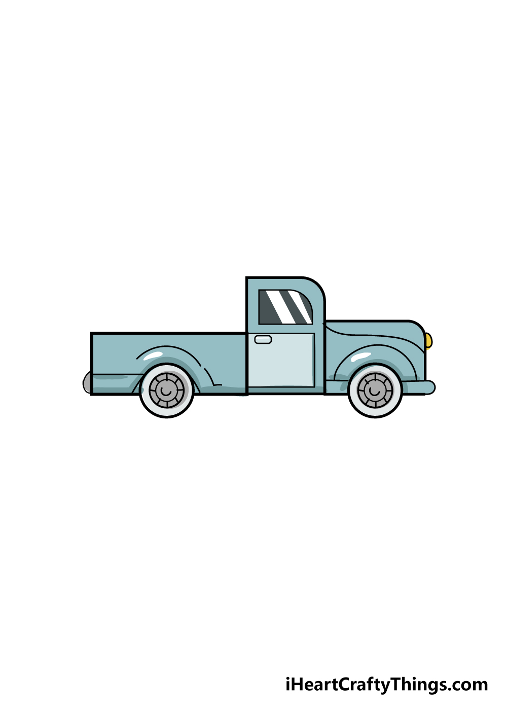 truck drawing step 6