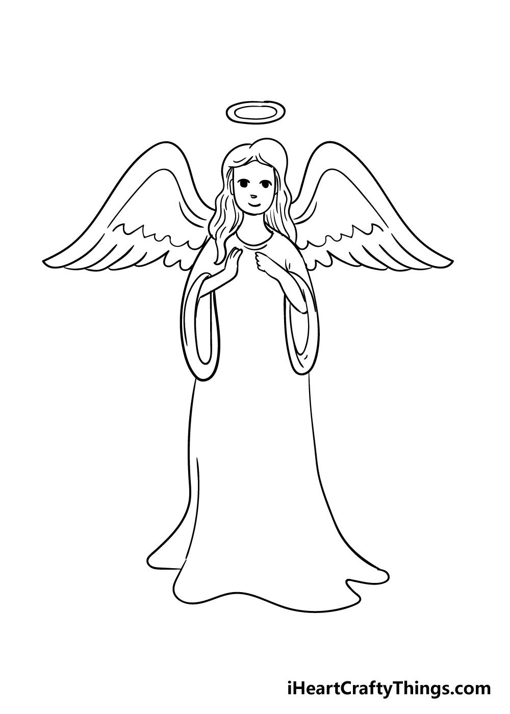 angel drawing step 6