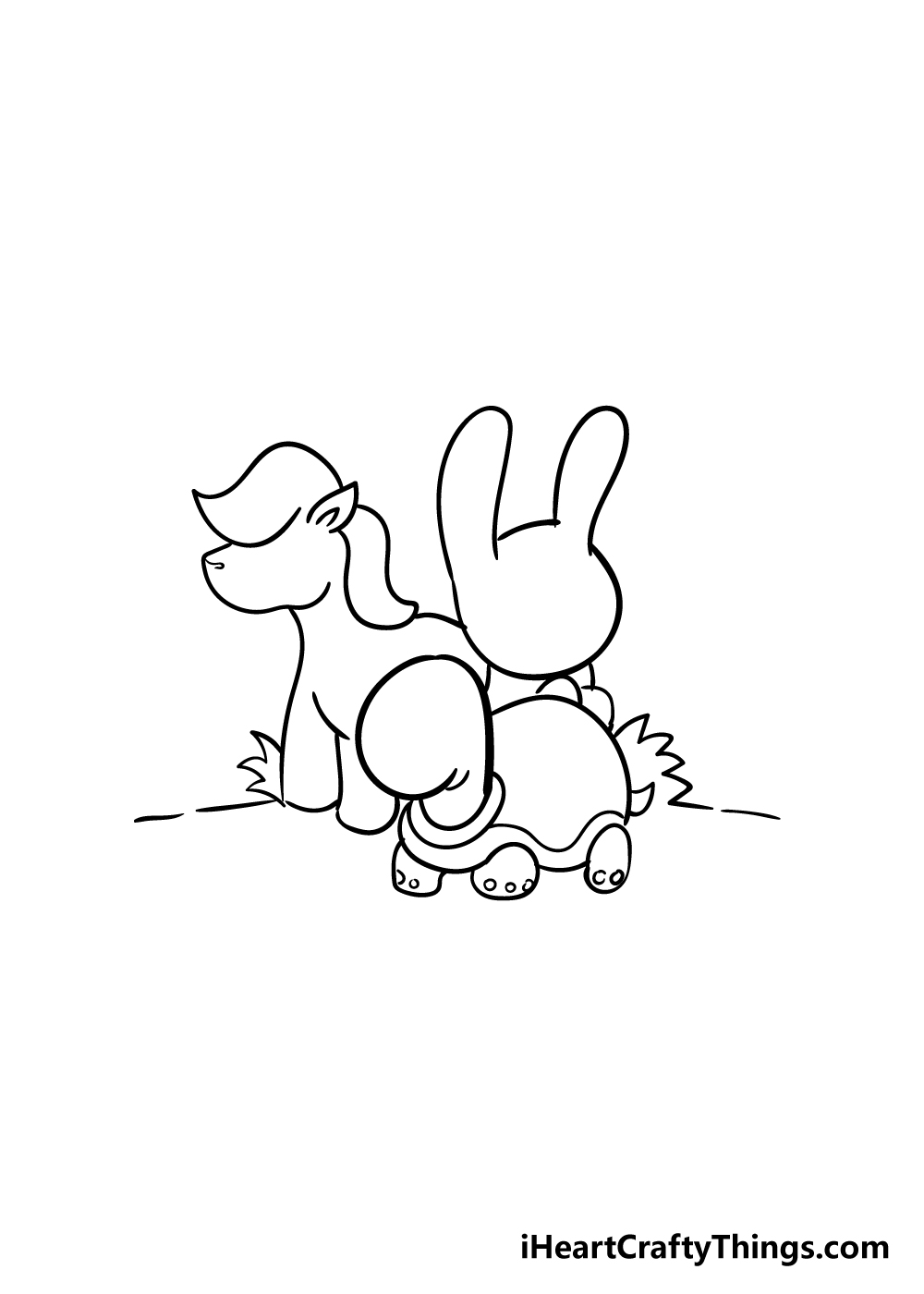 cute animals drawing step 6
