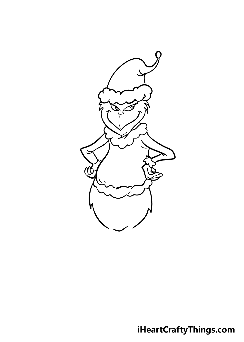 grinch drawing step 6