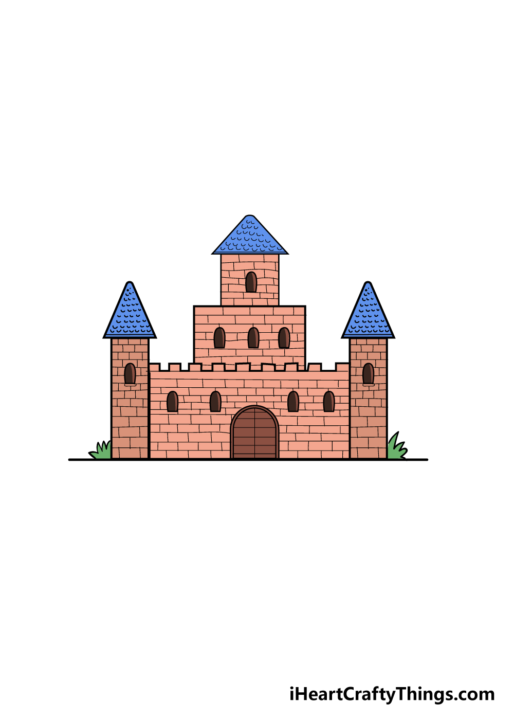 castle drawing step 6