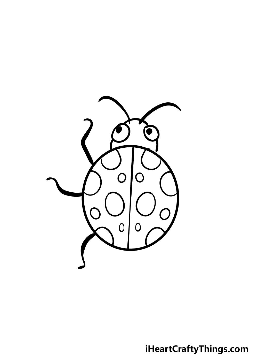 ladybug drawing step 6