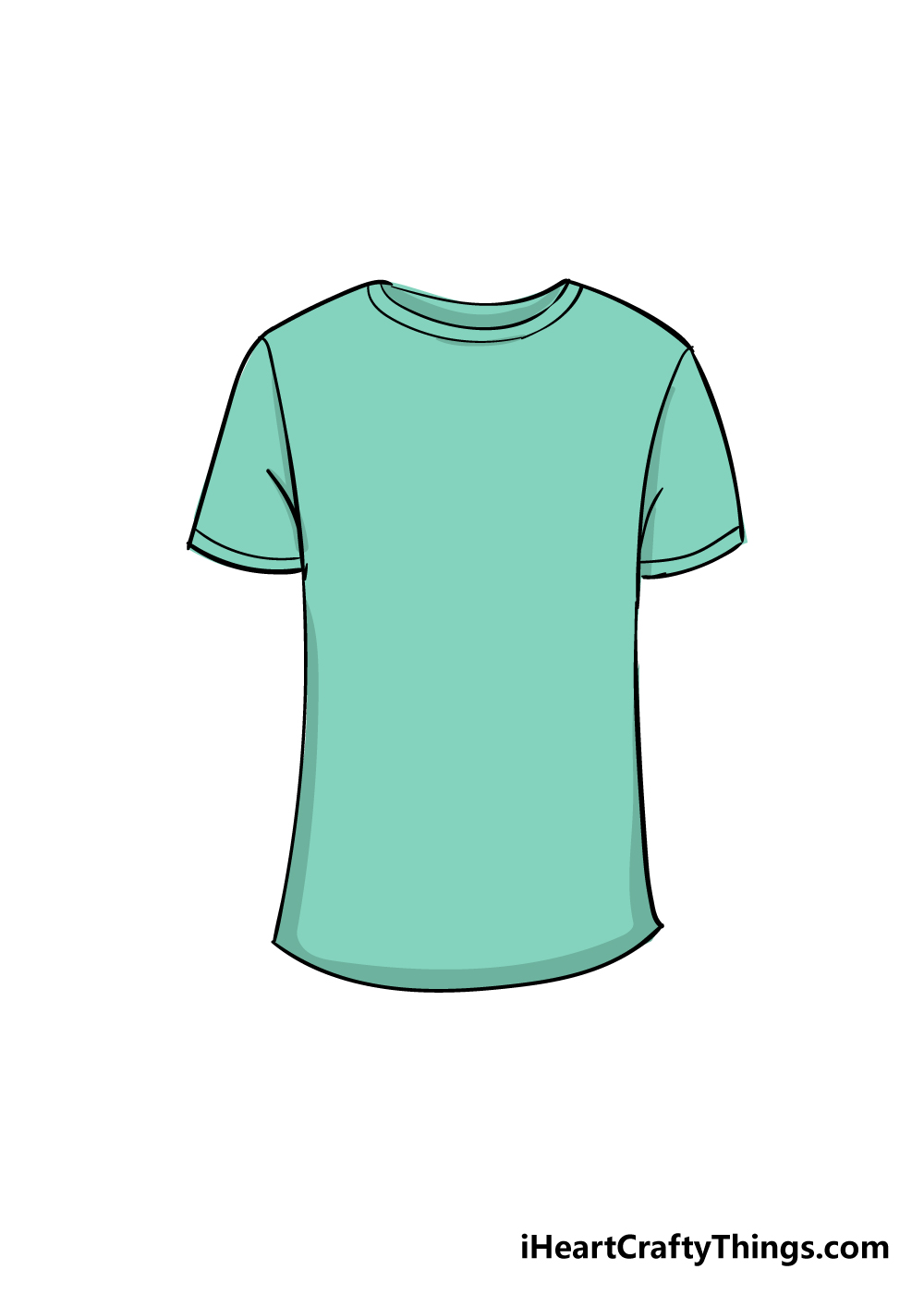 shirt drawing step 6