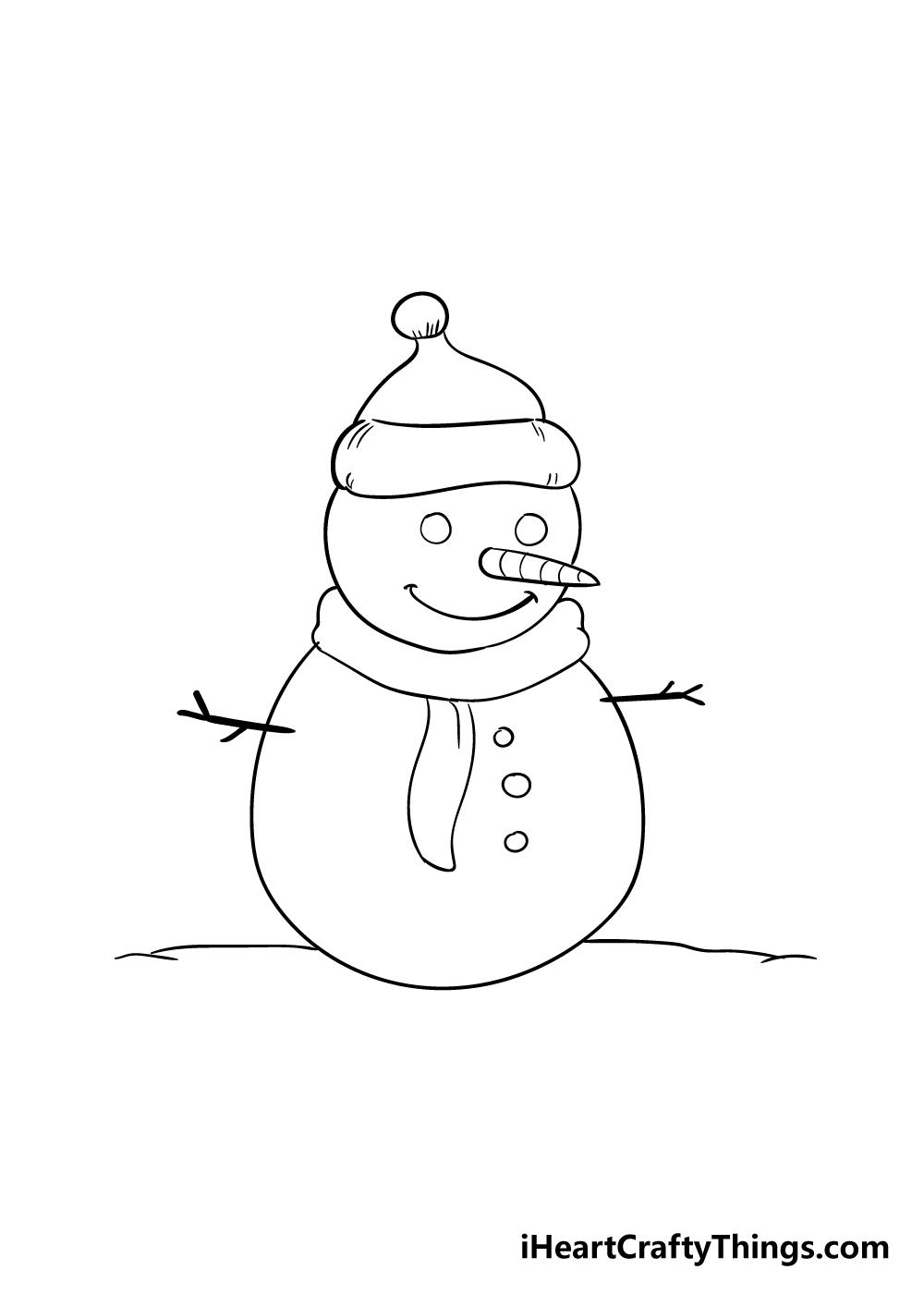 snowman drawing step 6