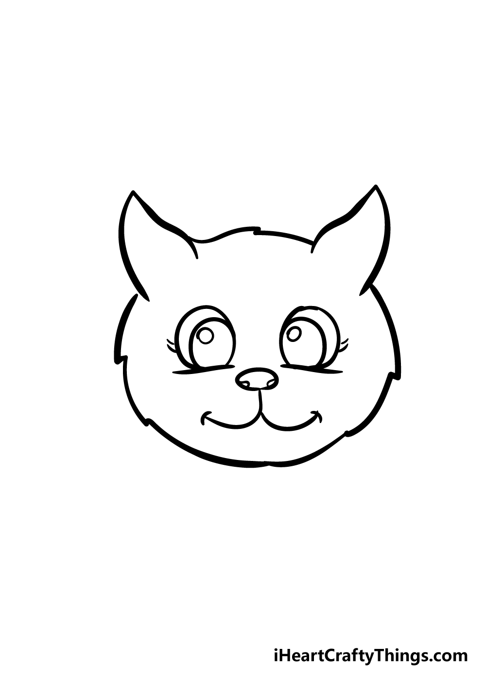cat face drawing step 6
