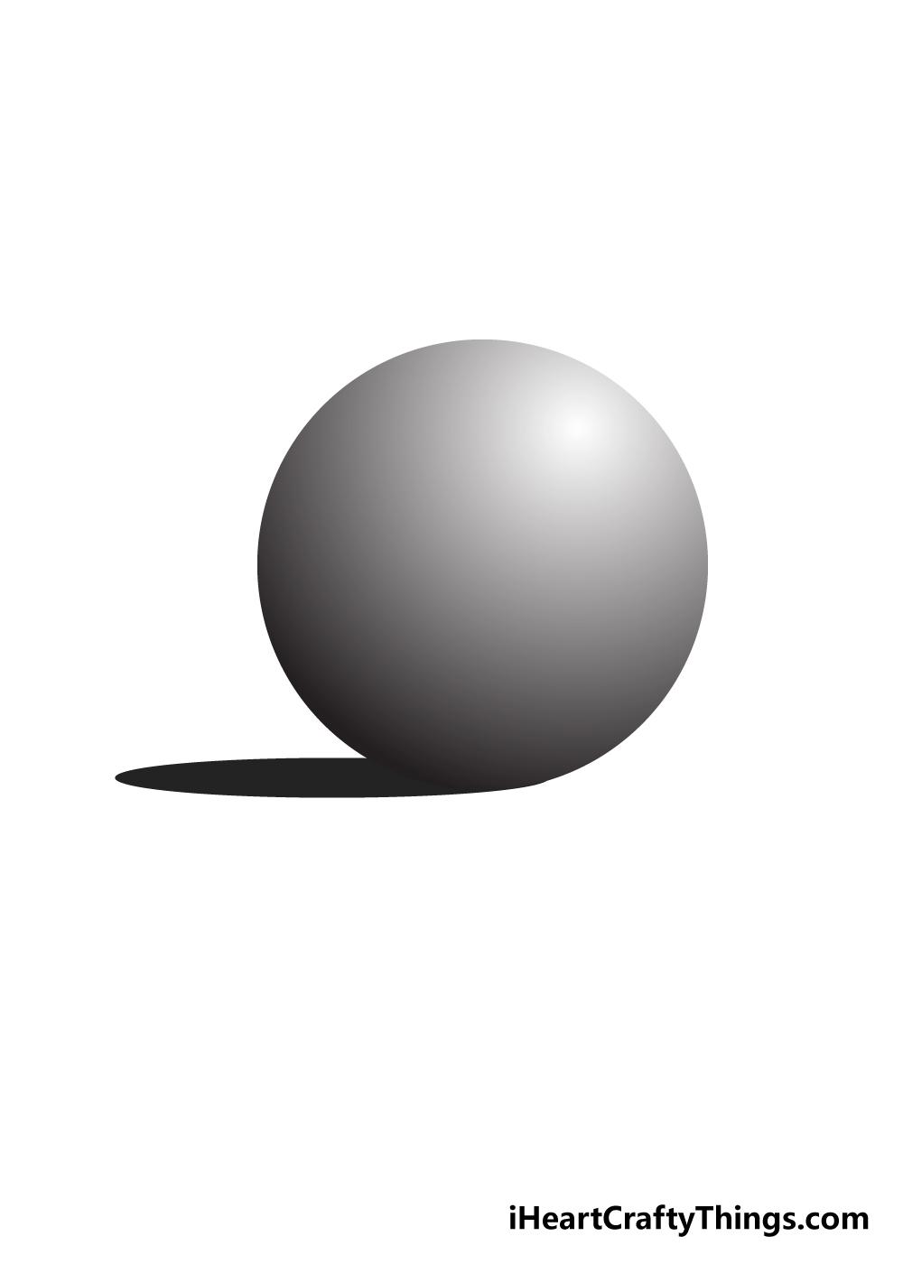 sphere drawing step 6