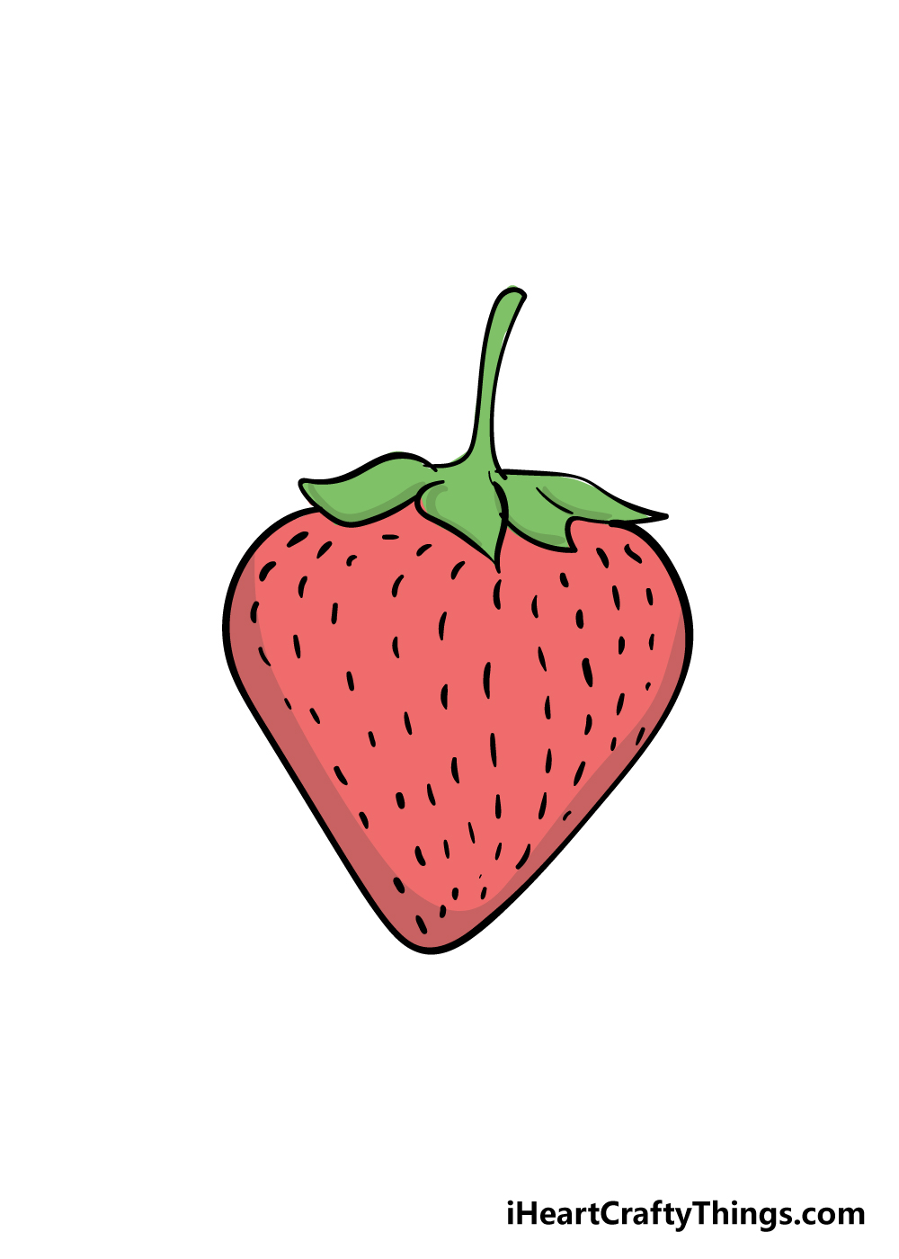 strawberry drawing step 6