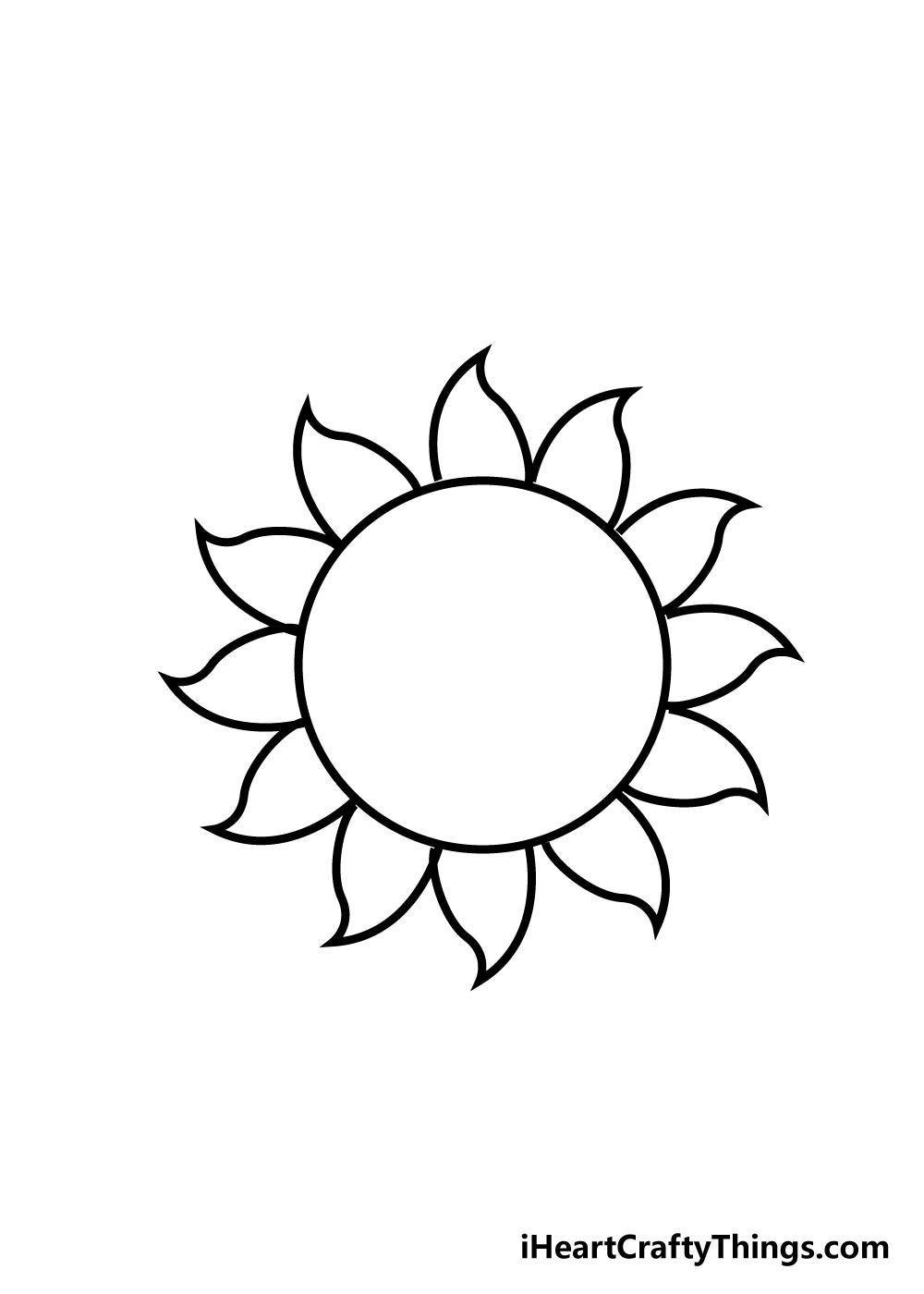 sun drawing step 6