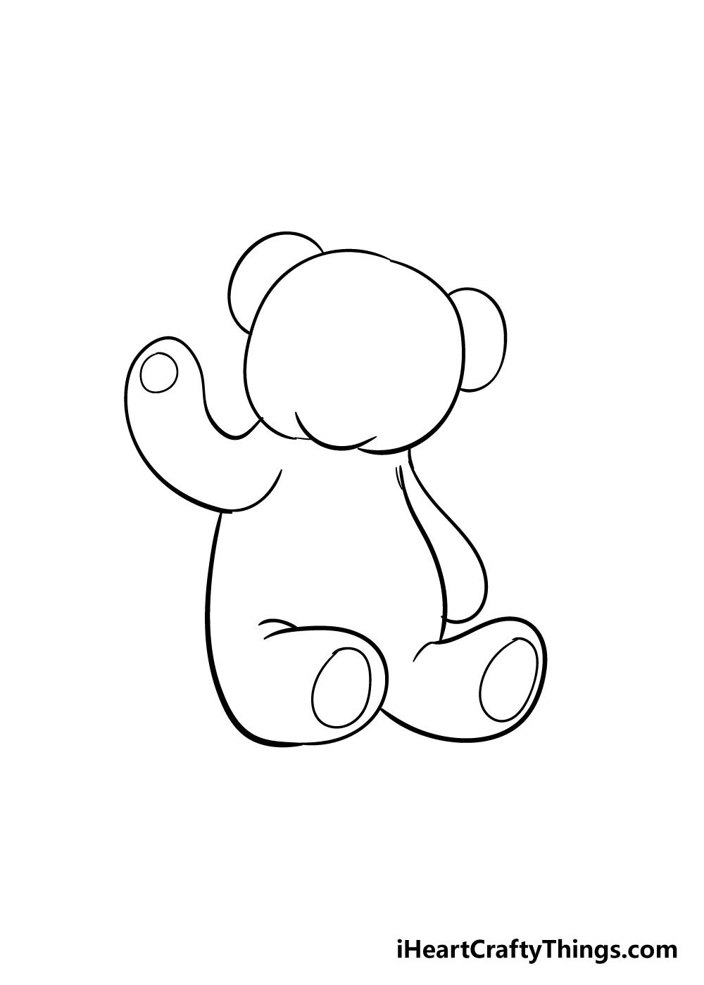 teddy bear drawing step 6