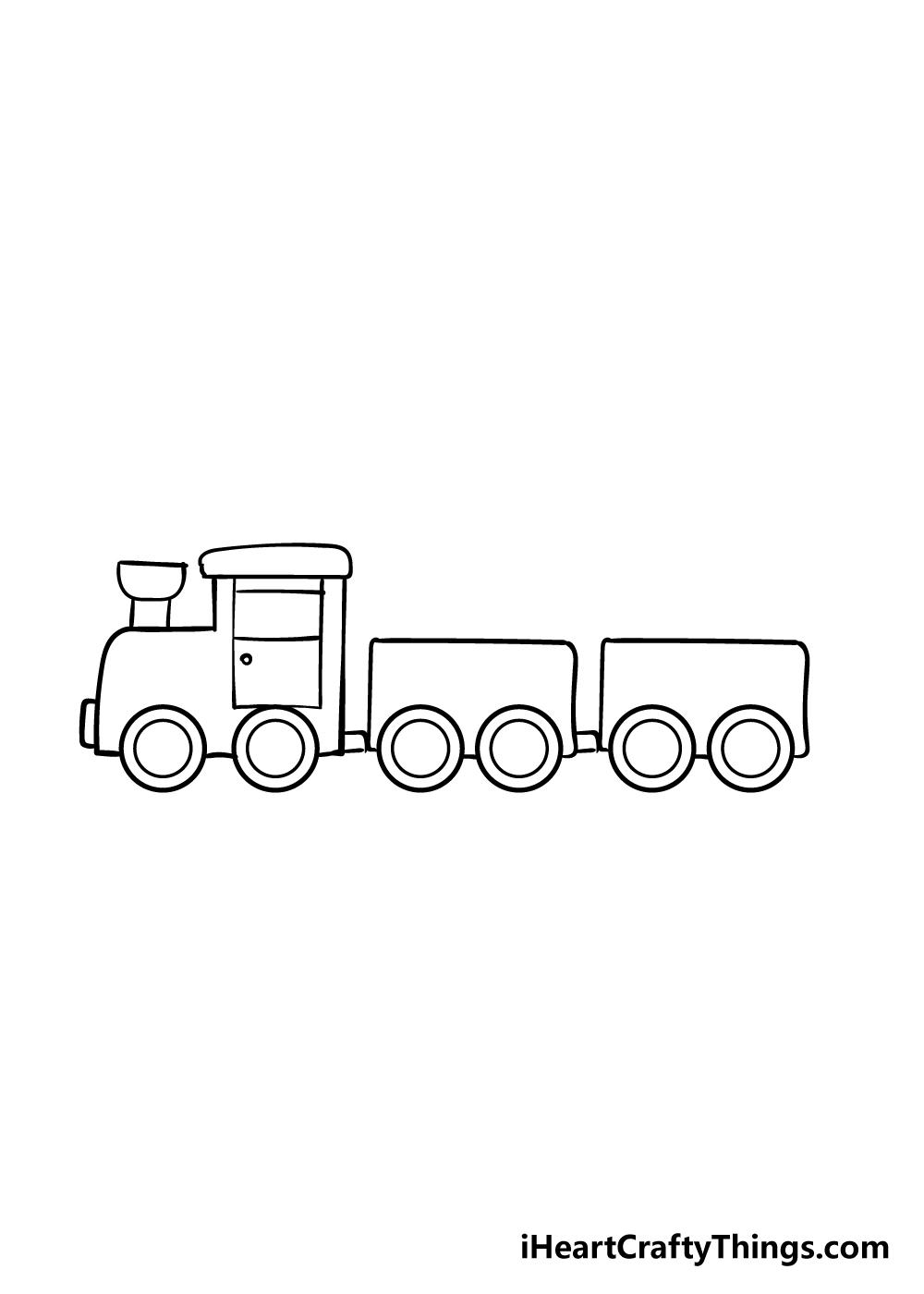 train drawing step 6