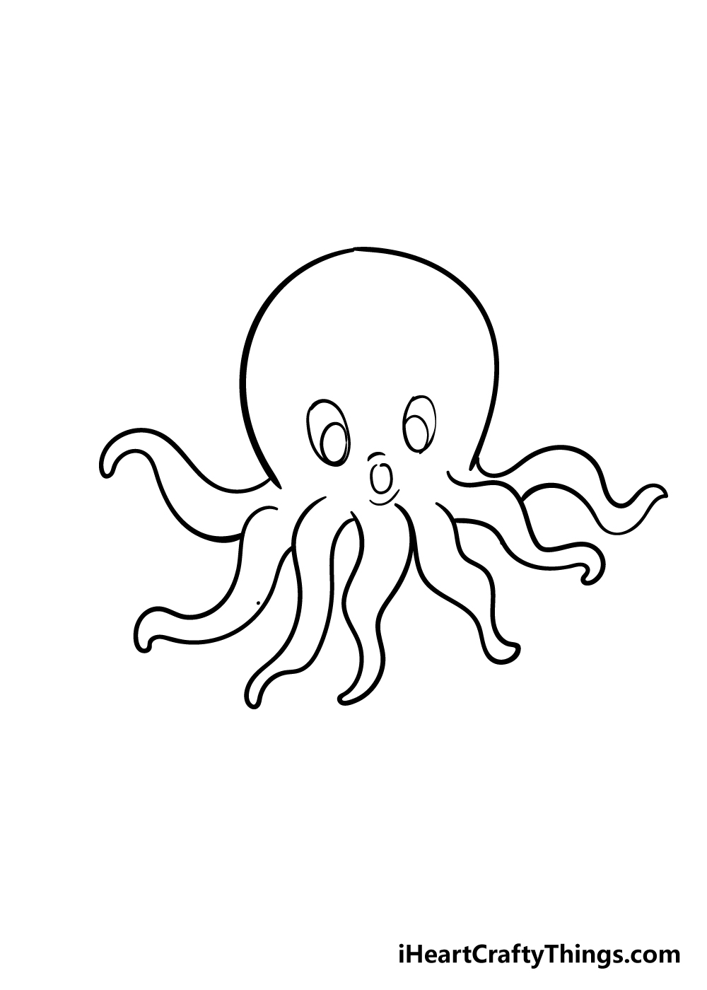 octopus drawing step 6